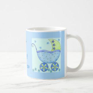 """Caneca De Café Bebê """"seu um azul personalizado nome do menino"""""""