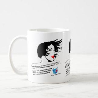 Caneca De Café Bebida das mulheres com estilo