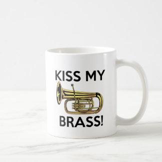 Caneca De Café Beije meu bronze, tuba