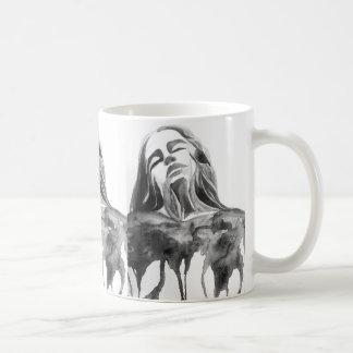 Caneca De Café Beleza da arte de Painitng do retrato da aguarela
