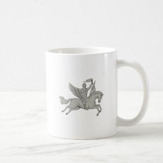 Caneca De Café Bellerophon que monta Pegasus que guardara o