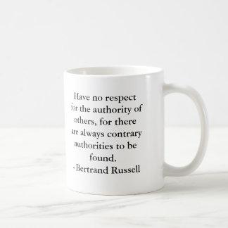 Caneca De Café Bertrand Russell - autoridade