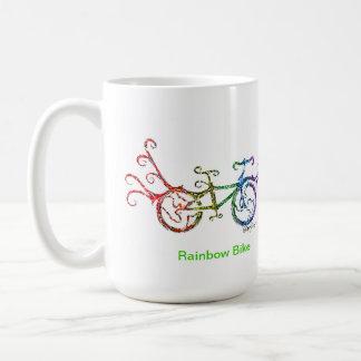 Caneca De Café Bicicleta do arco-íris