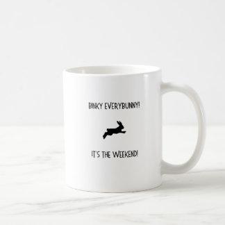 Caneca De Café BInky Everybunny! É o fim de semana