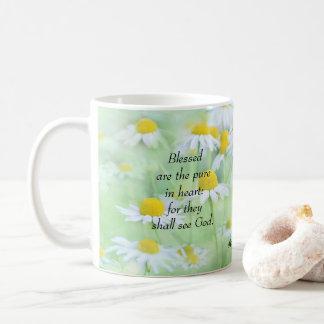 Caneca De Café Blessed é a pura no coração - 5:8 de Matthew