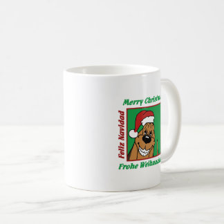 Caneca De Café Bloodhound Weihnacht