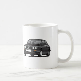Caneca De Café BMW 3 séries, E30, ilustração, preta
