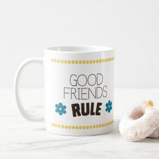 Caneca De Café Boa regra dos amigos