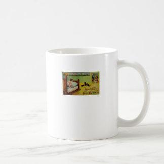 Caneca De Café Boa sorte este Dia das Bruxas (cartão do Dia das