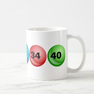 Caneca De Café Bolas da lotaria, 3, 18, 23, 34, 40