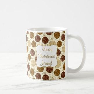 Caneca De Café Bolas de vidro de suspensão do Natal do ouro