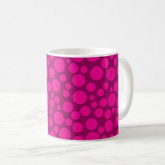 Caneca De Café Bolinhas cor-de-rosa