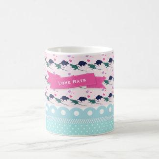 Caneca De Café Bolinhas dos ratos do amor