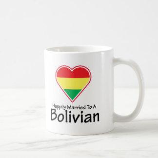 Caneca De Café Boliviano feliz casado