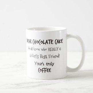 Caneca De Café Bolo de chocolate CONTRA o café!  Quem ganha?