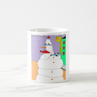 Caneca De Café Boneco de neve da parte alta da cidade