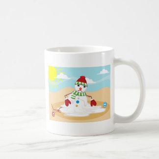 Caneca De Café boneco de neve do Natal em julho