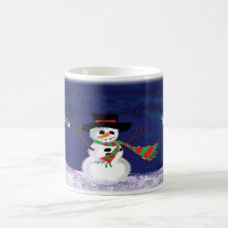 Caneca De Café Boneco de neve do Natal personalizado