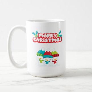 Caneca De Café Bonecos de neve do Feliz Natal