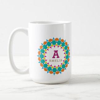 Caneca de café bonita com nome personalizado