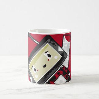 Caneca de café bonito da joaninha de Blockimals