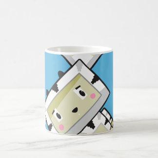 Caneca de café bonito da zebra de Blockimals dos