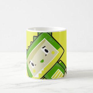 Caneca de café bonito do crocodilo de Blockimals