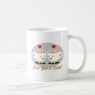 Caneca De Café Bonito! Eu te amo um LATTE!