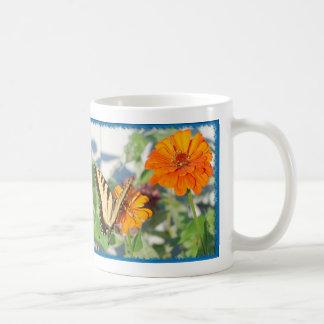 Caneca De Café borboleta amarela