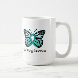 Caneca De Café Borboleta da consciência da alergia de comida