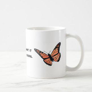 Caneca De Café Borboleta de monarca com Milkweed