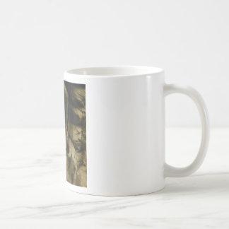 Caneca De Café borda cinzenta da cara da rocha