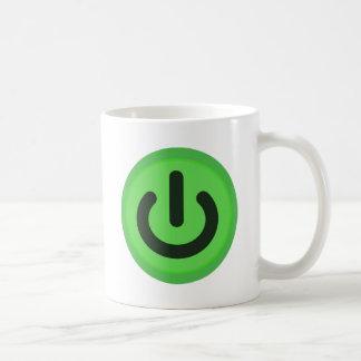 Caneca De Café Botão de alavanca do poder