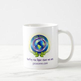 Caneca de café branca do logotipo da cena de Gaia