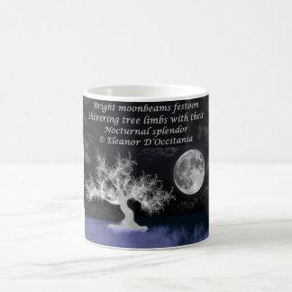 Caneca De Café Branco da poesia do esplendor da Lua cheia 11