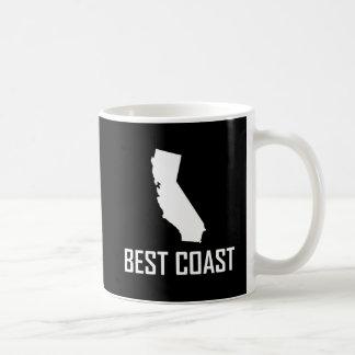 Caneca De Café Branco de Califórnia da costa oeste o melhor