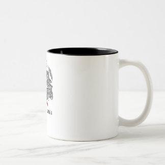 Caneca de café branco & preto