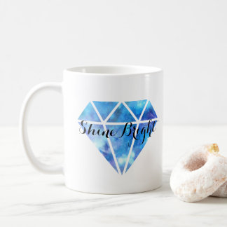 Caneca De Café Brilho brilhante (diamante azul)