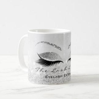 Caneca De Café Brilho das cinzas de prata do estúdio da beleza da