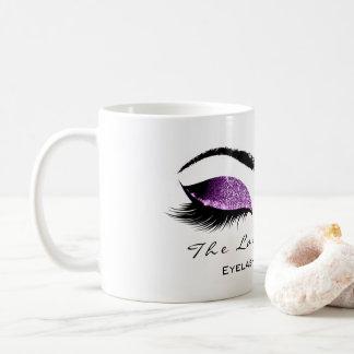 Caneca De Café Brilho roxo magenta da beleza da extensão da
