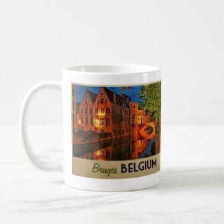 Caneca De Café Bruges Bélgica na noite
