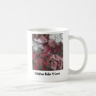 Caneca De Café Bulbos misturados, bulbos 4 do Caladium menos