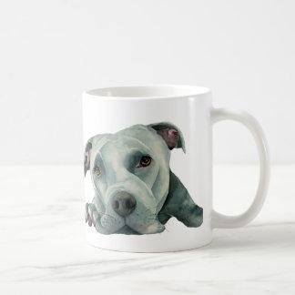 Caneca De Café Cabeça grande de Ol - pintura da aguarela do cão