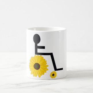 Caneca De Café Cadeira de rodas do girassol