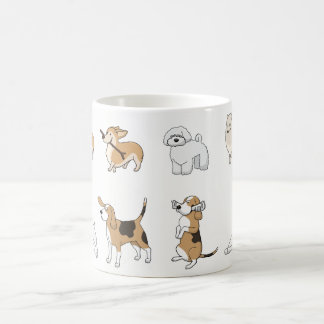 Caneca De Café Cães engraçados