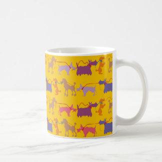 Caneca De Café Cães engraçados com ligação