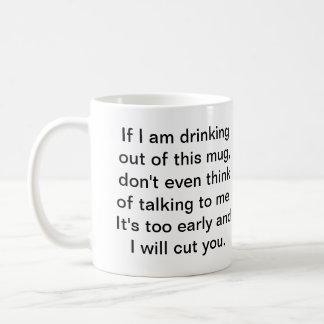 Caneca De Café Café antes da conversação segura