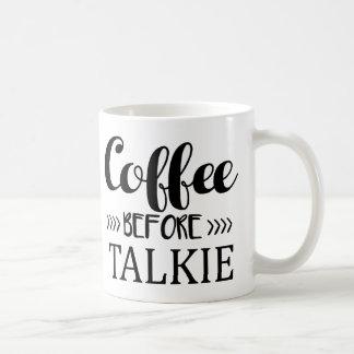 Caneca De Café Café antes do Talkie