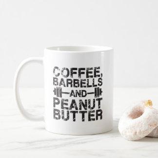 Caneca De Café Café, Barbells e manteiga de amendoim - exercício
