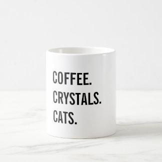 Caneca De Café Café, cristais, gatos